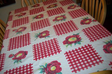beautiful Wilendur with gingham and poppies with original cloth tag