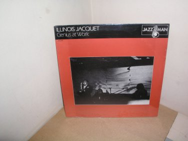"ILLINOIS JACQUET ""GENIUS AT WORK"" RARE JAZZ SEALED MINT JAZZMAN RECORDS LP"