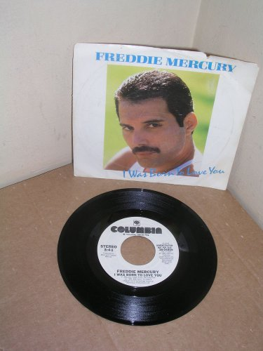 """QUEEN/ FREDDIE MERCURY """"I WAS BORN TO LOVE YOU"""" ROCK WLP WITH PICTURE SLEEVE"""