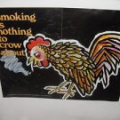 ORIGINAL 1970 ANTI SMOKING IS NOTHING TO CROW ABOUT PUBLIC HEALTH SERVICE POSTER