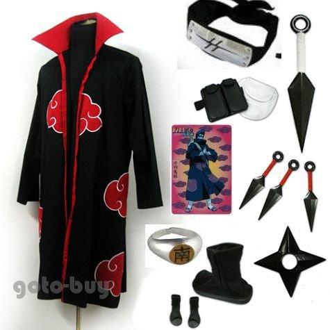 Naruto Akatsuki cloak Hoshigaki Kisame Cosplay Costume