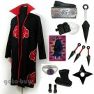 Naruto Akatsuki cloak Uchiha Madara Tobi Cosplay Costume