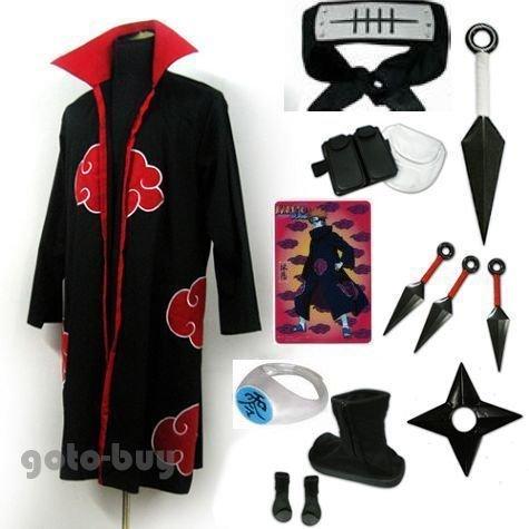 Naruto Akatsuki cloak Uzumaki Nagato Pein Cosplay Costume