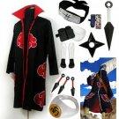 Fastest Shipping Naruto Akatsuki cloak Hoshigaki Kisame Cosplay Costume