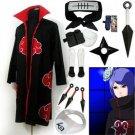 Fastest Shipping Naruto Akatsuki cloak Konan Cosplay Costume