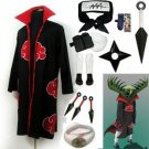 Fastest Shipping Naruto Akatsuki cloak Zetsu Cosplay Costume