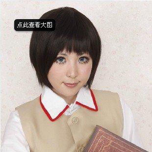 Shimura Shinpachi Honda Kiku Black Cosplay Wig