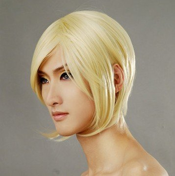 Hair neko zawa ume hito Pale gold Cosplay Wig