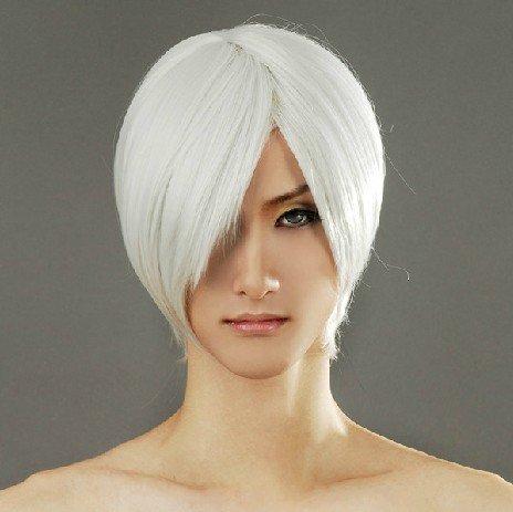 Sakata Gintoki Kurosaki Ichigo Silvery White Cosplay Wig