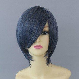 Ciel Phantomhive Blue Black Cosplay Wig