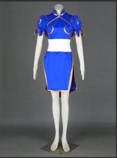 Street Fighter Chun Li Cosplay Costume (blue)