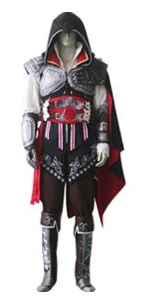Assassin's Creed II Ezio Auditore da Firenze Black Cosplay Costume