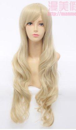 Free shipping Kagerou Project Kozakura Mari light gold cos wig