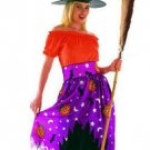Free shipping Halloween Orange Witch Cosplay Costume
