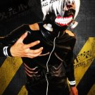A Set Of Tokyo Ghoul Kaneki Ken Cosplay Costume (Include:mask and wig)