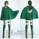 A Set Of Attack on Titan Mikasa Ackerman Cosplay Costume