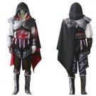 Custom made Assassin's Creed II Ezio Auditore da Firenze Black Cosplay Costume