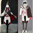 Custom made Assassin's Creed II Ezio Auditore da Firenze White Cosplay Costume