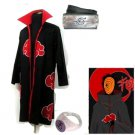 Naruto Akatsuki cloak Tobi Cosplay Costume (include cloak,headband and rings)