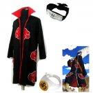 Naruto Akatsuki cloak Hoshigaki Kisame Cosplay Costume (include cloak,headband and rings)