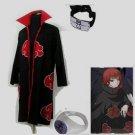 Naruto Akatsuki cloak Sasori Cosplay Costume (include cloak,headband and rings)