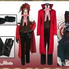 Custom Made Black Butler Grell Sutcliff Cosplay Costume (include wig)