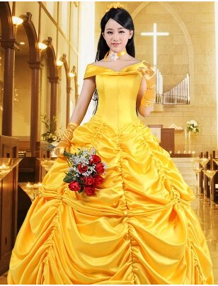 Custom Made Beauty and the Beast Belle Belle Princess Cosplay costume