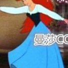 Custom made The Little Mermaid  Ariel Cosplay Costume Blue Dress