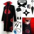 Naruto Akatsuki cloak Pain Cosplay Costume