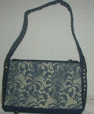 handbagbargains: Lacy Denim Look PVC Plastic Handbag