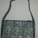 handbagbargains: Lacy Denim Look PVC Plastic Handbag