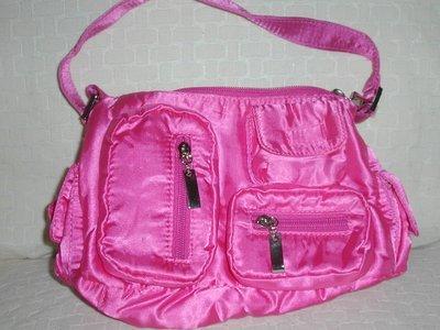 handbagbargains: Medium Satiny Pink Multipocket Purse
