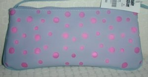 handbagbargains: Blue with Pink Accent  Jelly Purse