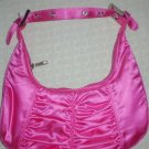 handbagbargains: Shiny Satiny Moon Shaped Purse, Pink