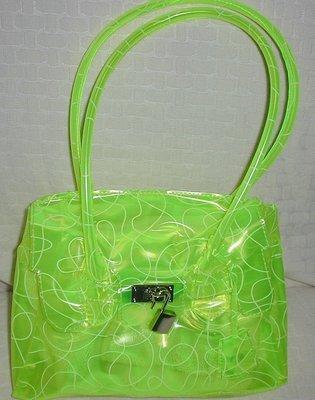 handbagbargains: Yellow Jelly Plastic Purse with Swirl Print