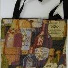 handbagbargains: Wine Bottle Print Tapestry Handbag Totebag