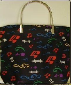 handbagbargains: Music Note Handbag Totebag