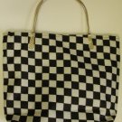 handbagbargains: Black and White Checkerboard Handbag Purse