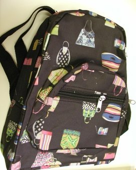 handbagbargains: Black Nylon Handbag Print Backpack