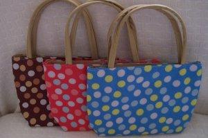 handbagbargains: Set of 3 Polka Dot Handbag Purse Tote