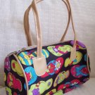 handbagbargains: Flip Flop Print Black Mini Barrel Handbag Purse Tote