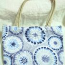 handbagbargains: Blue and Gray Tye Dye Handbag Purse Tote Mini