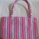 handbagbargains: Green Stripe and Rhinestone Handbag Purse Tote Mini