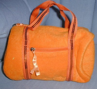 handbagbargains: Orange Terry Cloth Barrel Handbag Purse
