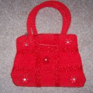 handbagbargains: Red Knit Tic Tac Toe Pattern Rhinestone Purse