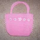 handbagbargains: Pink Knit Flower and Rhinestone Purse