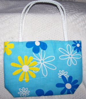 handbagbargains: Blue Flowered Purse Retro Look