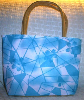 handbagbargains: Blue Geometric Print Purse