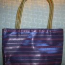 handbagbargains: Purple Striped Purse