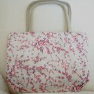 handbagbargains: White Shiny Flower Purse